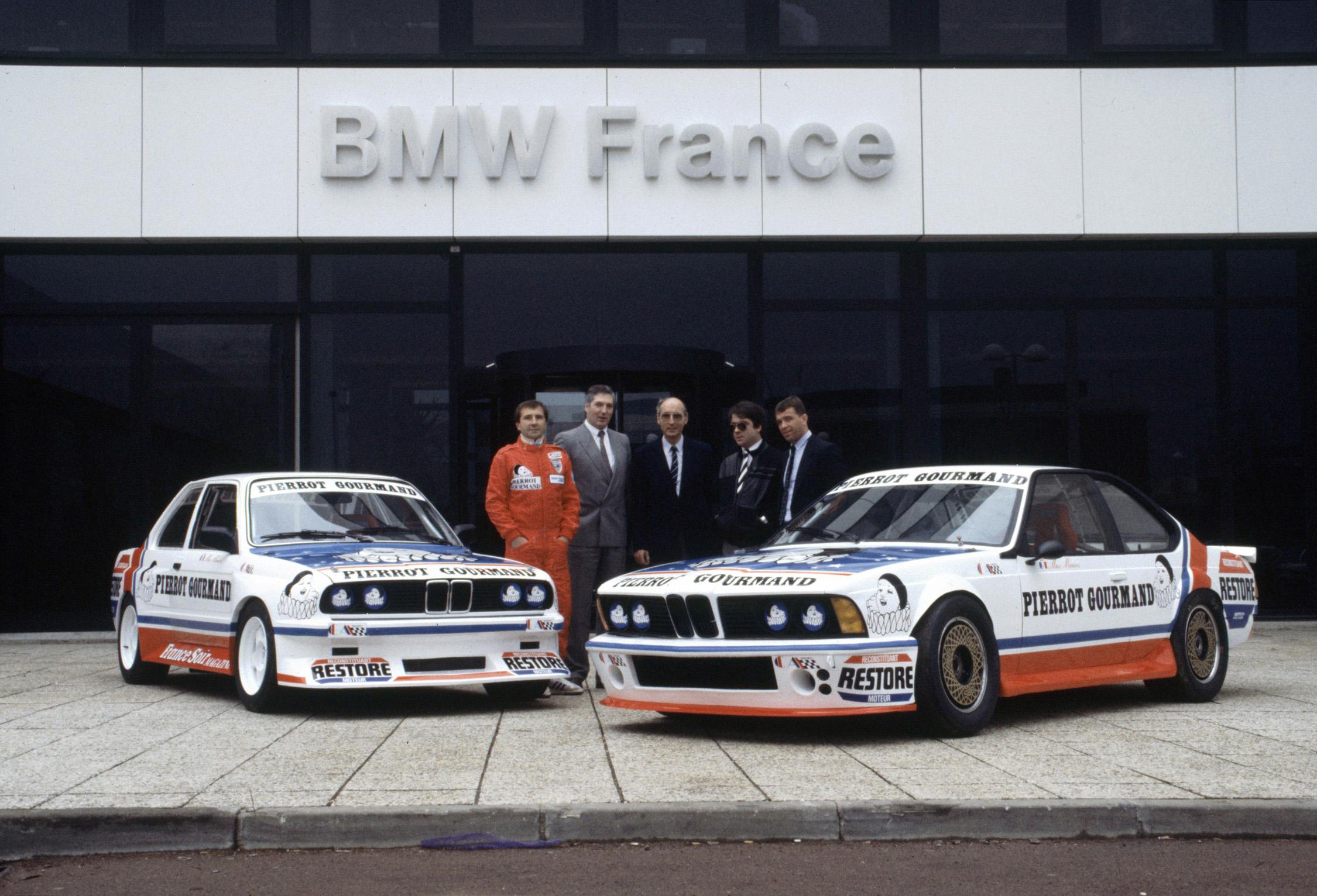 Présentation officielle des 2 BMW de Max Mamers (325 IX et 635) - 1986