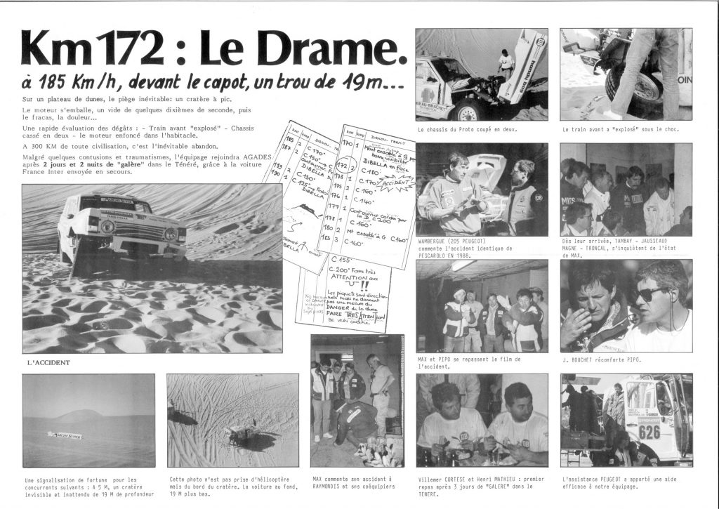 Article - 1989 - Paris Dakar - Le Drame - Range Rover