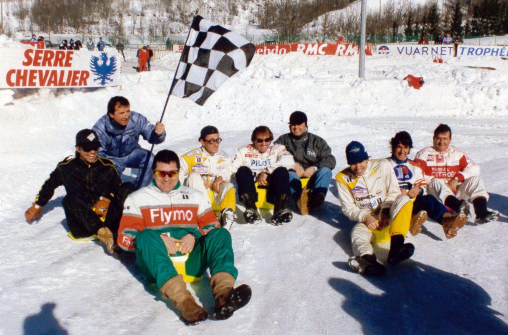 Avec A. Debanne, JM Bigard, C. Dechavanne, J. Laffite, P. Tambay, P. Belmondo, C. Neveu, P. Lartigue