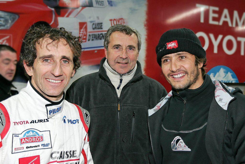 Avec Alain PROST et Bixente LIZARAZU