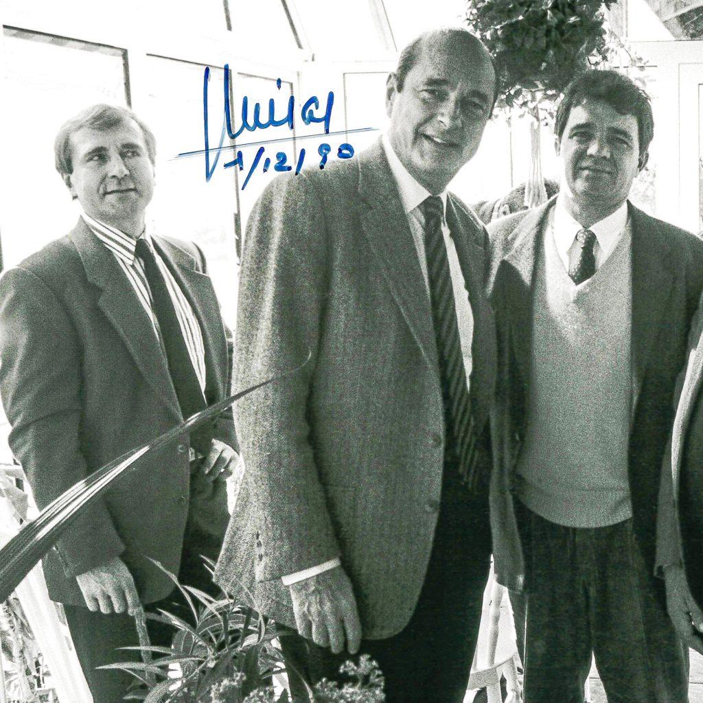 Avec Jacques Chirac et F. Gervoson