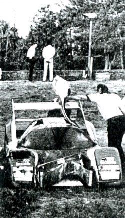 1981 WM Peugeot après l'accident